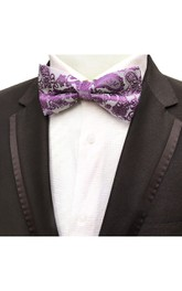 Satin Floral Printing Bow Tie-11 Color Options