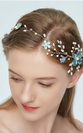 Korean Style Simple Beaded Flowers Headbands
