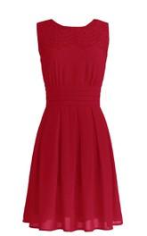Appliqued Zipper Back Bridal Sleeveless Gown