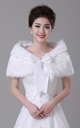 Autumn and Winter Bridal Thick Cloak Warm Long Coat Fur Coat