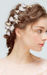Chic Tulle Alloy Headbands with Flowers and Butterflies