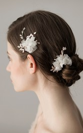 Korean Style Handmade Flower Hair Pins