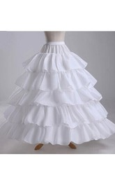 Ruffled 8 Layers Satin Long Length Wedding Dress Petticoat