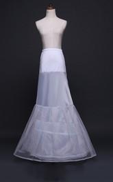 New Fishtail Wedding Petticoat with Elastic Belt Thickening Mesh Yarn Trailing Wedding Dress Accessories