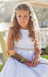 Beautiful Tulle Flower Girl Veil with Comb