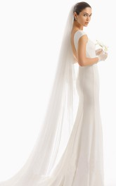 Super Soft Long Tail Simple Bridal Veil With Hair Comb