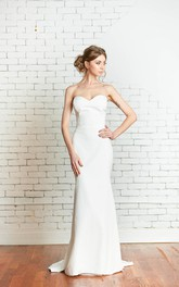 Fit-And-Flare Bridal Sleeveless Sweetheart Simple-Inspire Dress