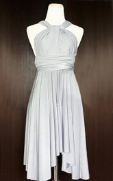 Haltered short Bridesmaid Dress With Pleats