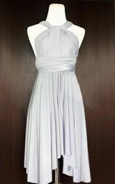 Haltered short Bridesmaid Dress With Pleats