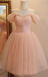 Charming Off-the-shoulder A-Line Short Tulle Dress