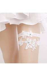 Original Handmade Lace Princess Style Two Sets Of Elastic Garter With Within 16-23inch