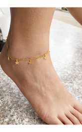 Western Style Summer Fashion Exquisite Lucky Five-Pointed Star Anklet Anklet