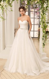 Sleeveless Criss Cross Appliques Floor-Length A-Line Tulle Dress