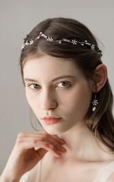 Handmade Elegant Silver Flower Headbands