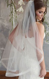 Simple Style Single Layer Soft Wedding Veil With Hair Comb