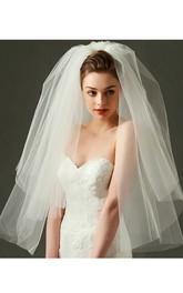 Multi-layer Simple Short Puffy Tulle Wedding Veil