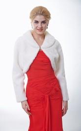 Long Sleeve Faux Fur Bridal Jacket