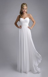 Crisscross Sweetheart Chiffon Wedding Dress With Ruching And Pleats