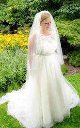 Tulle Satin Ribbon Crystal Sleeveless Jewel Dress