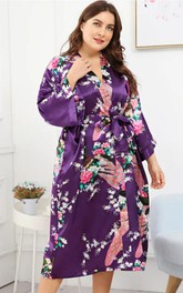 Plus Size Floral Bride Bridesmaid Robe