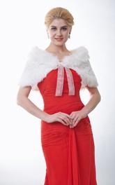 Gorgeous Sequined Faux Fur Bridal Shawl