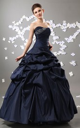 Magnificent Crystal Strapless Princess Ball Gown