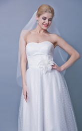 Mid Length Two Tier Tulle Wedding Veil