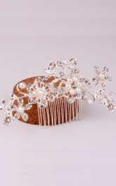 Korean Pearl Flower Gold Hair Comb