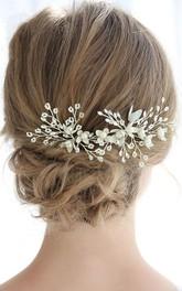 Ladies Charming Crystal Silver Hairpins