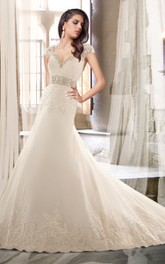 Wedding Removable Strapped Lace Sweetheart Dress