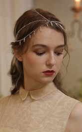 Classical Handmade Vintage Crystal Beaded Headband