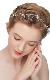 Ladies Elegant Rhinestones Headbands with Beads