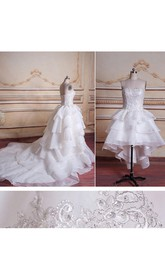 Tulle Beaded Appliqued Satin Ball-Gown Princess Organza Dress