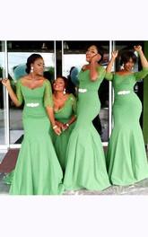 Trumpet Sweetheart Half-sleeved Beading Zipper Chiffon Lace Dress