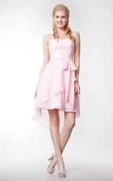 High Low Inspire Sweetheart Crisscross-Front Dress