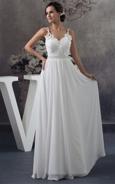 Floor-Length Crystal Sleeveless Floraled Gown