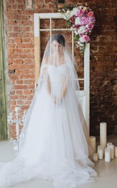 Princess Long Tulle Off-The-Shoulder Ball-Gown Dress
