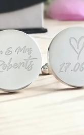 Custom Engraved Bride to Groom Cufflinks