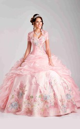 Sweetheart Pick-Ups Picturesque Sequin Detailing Strapless Ball Gown