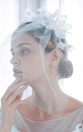 Simple Style Bridal Veil with Beads