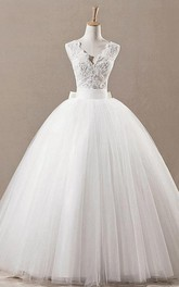 Princess Jeweled Lace Top Tulle Princess-Inspire Ball Gown