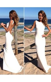 Sleeveless Es Fishtail Trumpet Floor-Length Gown
