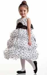 Organza Layered 3-4-Length Flower Girl Dress