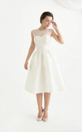 Sleeve Zipper Sleeveless Sweetheart Taffeta Dress