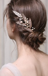 Classical Alloy Hair Combs with Pearls