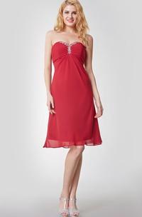 Chiffon Beaded Detail High-Waist Sleeveless Gown