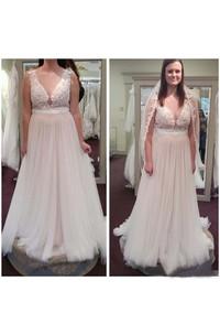 Jewel Lace Tulle  Sleeveless Wedding Dress