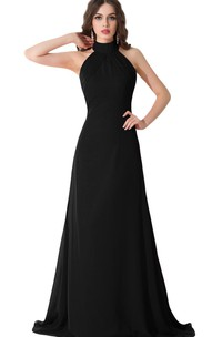 High Neck Sleeveless A-line Dress With Backless design