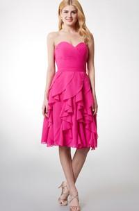 Short Ruffled Skirt Sweetheart Lovely Dress