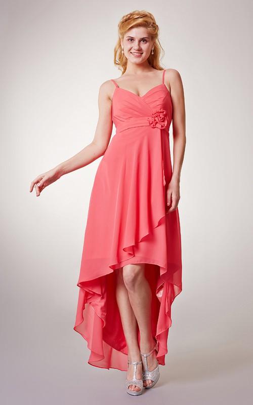 Chiffon Spaghetti Sleeveless Sassy Dress